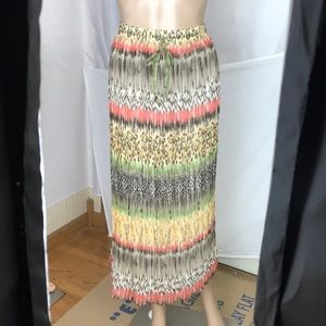 Alfred Dunner Watercolor Broomstick Skirt Size 14